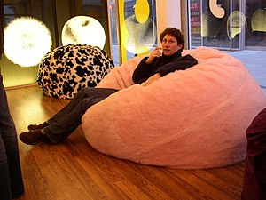 English: Bean bags in the Budda Bag Shop in Du...