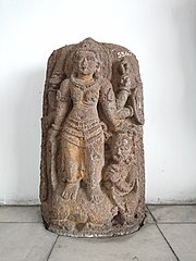 Six Hands Durga Mahisasuramardini Statue