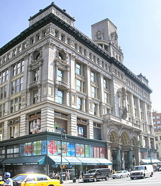 Siegel-Cooper Company - The Siegel-Cooper Building at 616-632 Sixth Avenue in the Flatiron District of Manhattan, New York City, within the Ladies' Mile Historic District