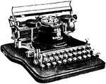 Skrifmaskin, Hammond-maskin, Nordisk familjebok.png