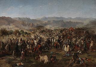 Batalla de Las Navas de Tolosa, óleo de Van Halen.