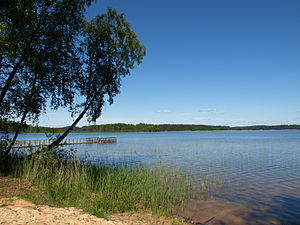 Zarasai District Municipality - Image: Smalvas lake