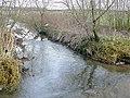 Smestow Brook flowing onto Trescott Ford, Staffordshire - geograph.org.uk - 1134568.jpg