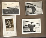 "Snapshots of men and aircraft at Camp Mohawk, one of the Royal Flying Corps' pilot training camps near Deseronto, Ontario. Includes one showing a hangar building under construction, two of ""Steve"" and (6079343551).jpg"