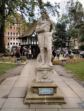 Soho Square - The statue of Charles II by Caius Gabriel Cibber stands at the centre of Soho Square