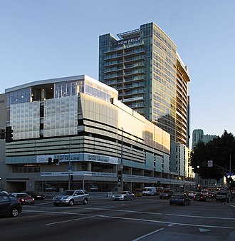 Western Avenue (Los Angeles) - The Solair, a transit-oriented development of condominiums, a parking garage, above the Purple line subway stop at Wilshire Boulevard and Western Avenues.