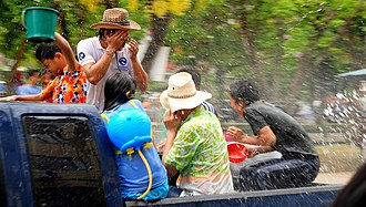 Songkran (Thailand) - Water fights, Chiang Mai