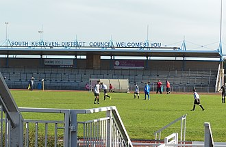 Grantham Town F.C. - The East Stand at the South Kesteven Stadium