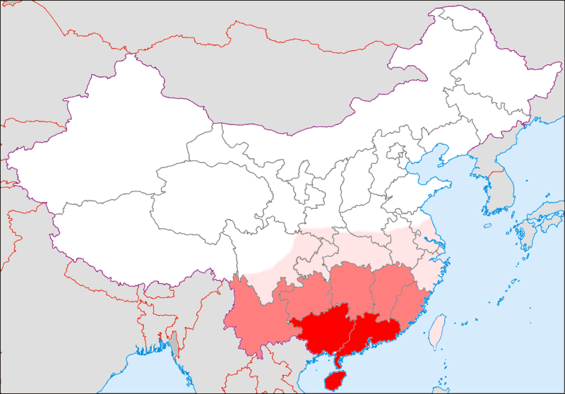 Southern China map-1