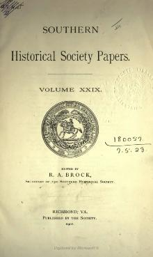 Southern Historical Society Papers volume 29.djvu