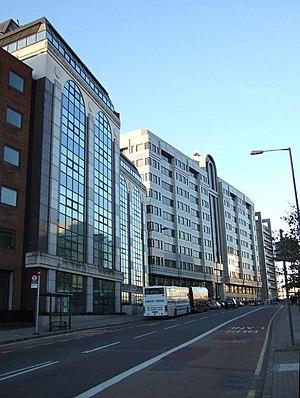 Southwark Bridge Road - View of Southwark Bridge Road.