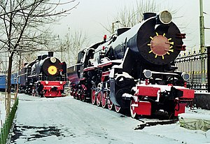 DRB Class 52 - Image: Soviet steam locomotive te 5200 ex german 52 tashkent