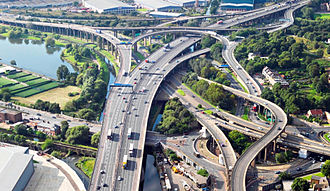 M6 motorway - Image: Spaghetti Junction Crop