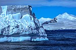 Spectacular Christmas morning cruise through the remants of giant Tabular iceberg B15Y, which is now grounded just off Bransfield Island at the N tip of the Antarctic Peninsula. (25367299444).jpg