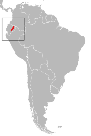 Streaked dwarf porcupine - Image: Sphiggurus ichillus Distribution Map