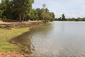 Srah Srang - Stone covered quay