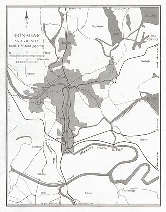 Srinagar - Srinagar city and its vicinity in 1959