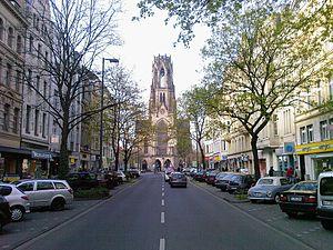 St. Agnes, Cologne - St. Agnes as seen from Neusser Straße