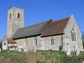 Claxton, Norfolk - Image: St. Andrew's, Claxton geograph.org.uk 133410