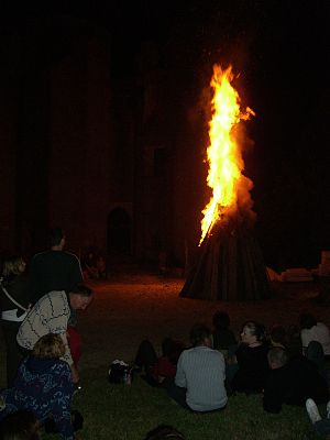 Saint John's Eve - St. John's Eve is typically celebrated with a bonfire called Saint John's Fire, as at the Château de Montfort (Cote-d'Or), France.