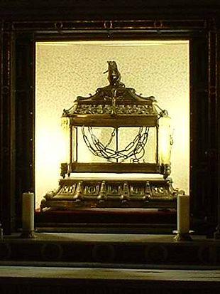 Le catene di San Pietro, conservate oggi nella chiesa di San Pietro in Vincoli a Roma, una reliquia di seconda classe.