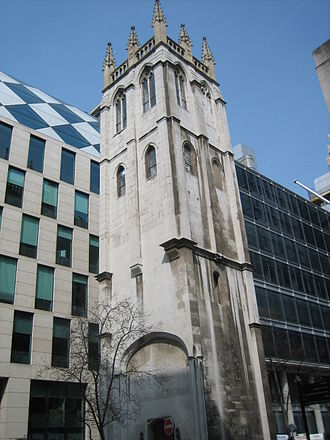 St Alban, Wood Street - The tower of St. Alban's