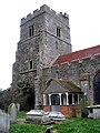 St Edmund's church - tower and porch - geograph.org.uk - 661111.jpg