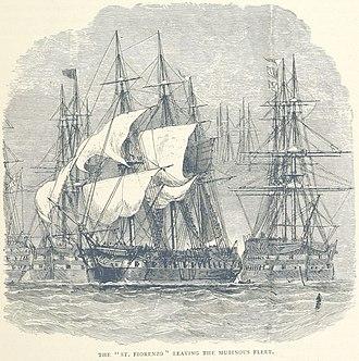 HMS St Fiorenzo (1794) - St Fiorenzo escapes the mutiny