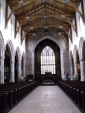 St James' Church, Louth - Image: St James Louth nave