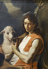 St John the Baptist Wearing the Red Tabard of the Order of St John