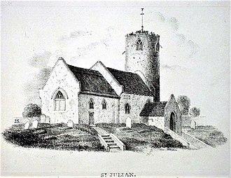 Julian of Norwich - Image of the original Church of St Julian, Norwich