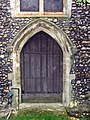 St Mary, Panfield - West door (geograph 2756570).jpg