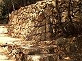Stairs, Aqua Bella, Israel שער מדרגות וקיר תמך, עין חמד, ישראל - panoramio.jpg