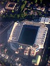 Aerial photograph of Chelsea's Stamford Bridge