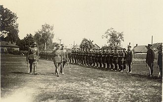 Stasys Raštikis - Raštikis inspects Lithuanian troops
