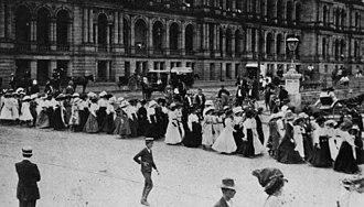 1912 Brisbane general strike - Women marching during the general strike.