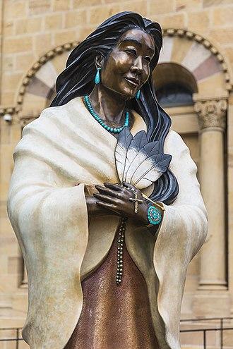 Kateri Tekakwitha - Statue Kateri Tekakwitha, Cathedral Basilica of St. Francis of Assisi, Santa Fe, NM.