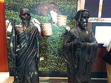 Statues of Faxian and Marco Polo, Maritime Experiential Museum & Aquarium - 20111006.jpg