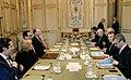 Steven Mnuchin and Emmanuel Macron at Elysee Palace.jpg