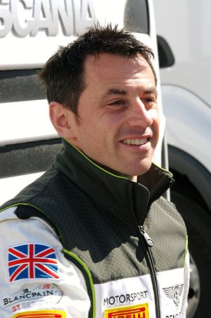 Steven Kane - Kane at the Silverstone round of the 2014 Blancpain Endurance Series season.