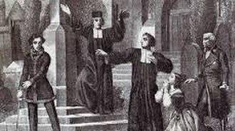 Stiffelio - Scene from act 2 of Stiffelio: the confrontation with Raffaele.