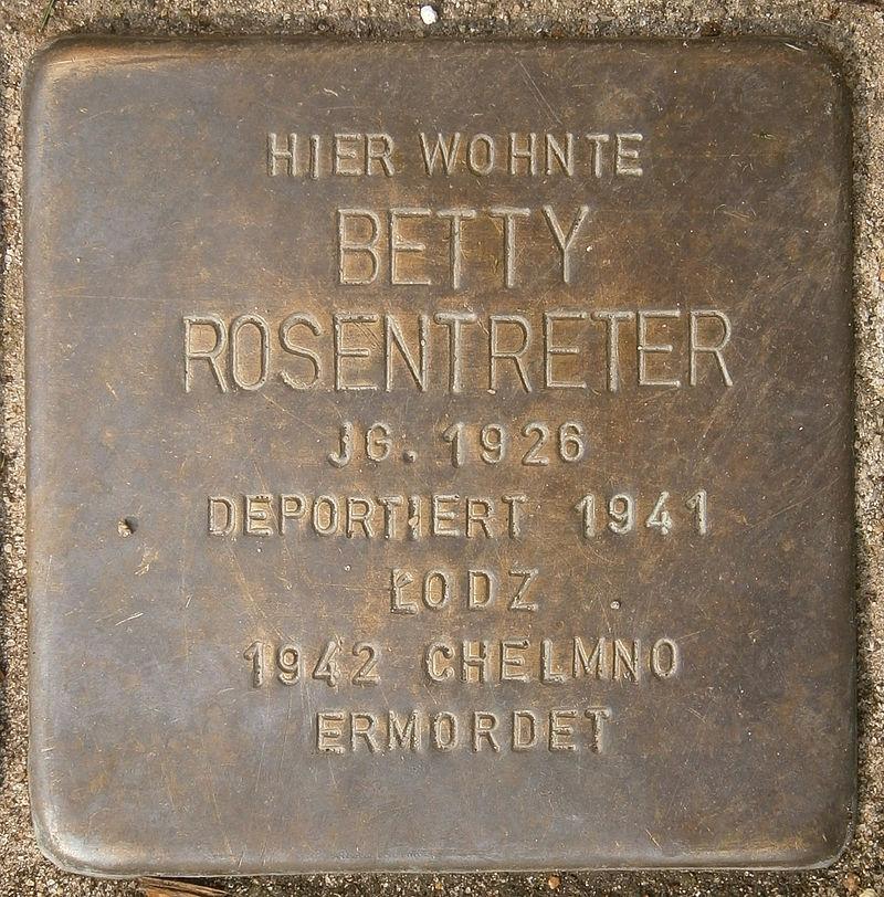 Stolperstein Behnstraße 17 (Betty Rosentreter) in Hamburg-Altona-Altstadt.JPG