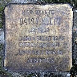 Photo of Daisy Klein brass plaque