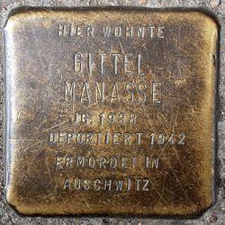 Photo of Gittel Manasse brass plaque