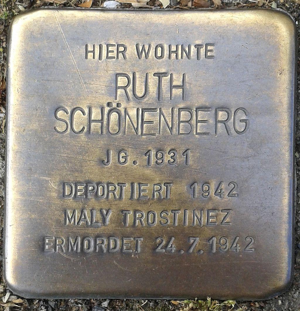Stolperstein Hennef Bonner Straße 71 Ruth Schönenberg