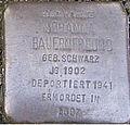 Stolperstein Mittelweg 8-10 Johanna Bauernfreund.jpg