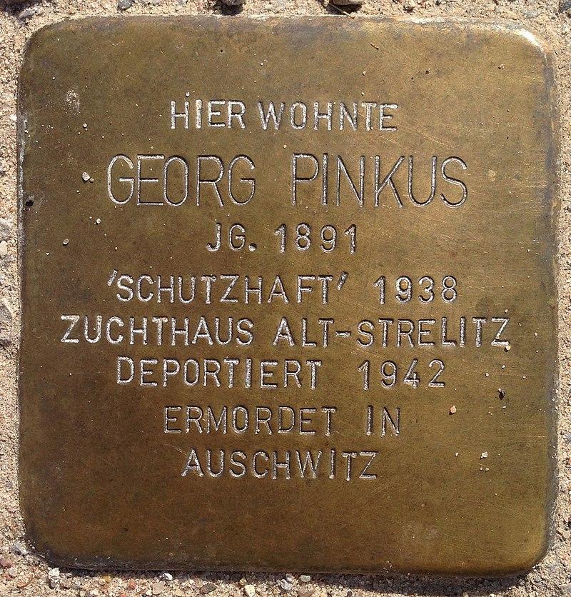 Stolperstein Penzlin Bahnhofstraße 14a Georg Pinkus