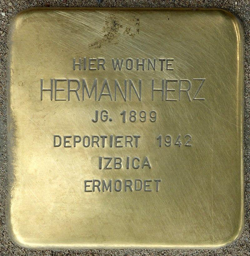 Stolperstein für Hermann Herz (Bahnhofstraße 48)