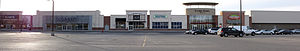 Stone Road Mall - Panorama showing the eastern entrance to the mall