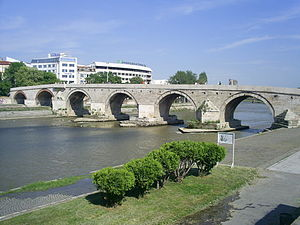 Stone Bridge (Skopje) - Image: Stone bridge in Skopje